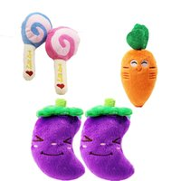 3 Colors Radish Eggplant and Lollipop Pet Sound Toy Simulati...