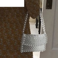 good quality Pearl Handmade Beaded Small Tote Bag Women Pear...