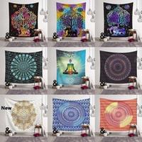 14 Stili Bohemian Mandala Tapestry Asciugamani da spiaggia Scialle Stampato Yoga Tappetini da bagno Poliestere Asciugamano Decorazione domestica Decorazione domestica Pads all'aperto CCA11526 30PCS