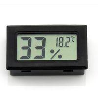 Livraison gratuite par DHL / Fedex Electronic 2015 Nouveau LCD Testeur de température numérique Congélateur Thermomètre Hygromètre Humidité Mètre Sonde intégrée