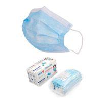Mascarillas desechables con el elástico del oído Loop 3 capas transpirable y cómodo para el bloqueo de polvo Protection Pack contaminación atmosférica