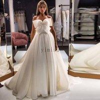حلوة فساتين زفاف حمالة قطار الاجتياح خط القوس الكبير حديقة البلد أثواب الزفاف vestidos دي نوفيا زائد الحجم