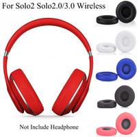 Dla Solo 2 Wired Solo 2.0 3.0 Bezprzewodowe słuchawki Słuchawki Poduszka Soft Protein Leather Pamięć Pamięć Wymiana Earmuff Ear Pad Solo 2 3