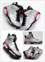 6 JSP Yansıtıcı Bugs Bunny erkek basketbol ayakkabı 3 M 6 s Yansıtıcı Gümüş spor ayakkabı kutuları ücretsiz shippment Ile 2019 Kızılötesi sneakers