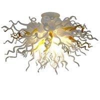 السقف LED الضوء الأبيض زجاج مورانو الثريات سقف الغرفة مصباح LED ضوء مصباح المعيشة غرفة نوم وغرفة الطعام مطبخ اللمعان.