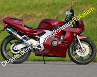 For Honda CBR250RR Motocicleta CBR22 Conjunto de carenagens MC22 1990 1991 1992 1993 1994 CBR250 RR Fairing Bodywork Fairings Red (Injecção)