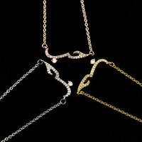 Declaração Handmade presente Árabe Amor Mulheres Colar Rose Gold Filled Jóia de cristal colar Choker Pendant