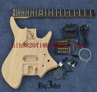 Semi- Finished Headless Electric Guitar, Ash Body with All Har...