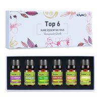清野純精細油10ml 6ピースギフトセット加湿器アロマテラピーラベンダーティーツリーEucalyptus Peppermint Lemongrass Oil