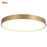 American all- copper ceiling lamp Round ultra- thin LED balcon...