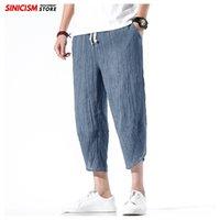 Sinicism tienda Men Solid para hombre de los pantalones finos de Verano 2020 Harem flojo becerro-longitud de los pantalones masculinos ancha pantalones CX200629 la vendimia del estilo chino de la pierna