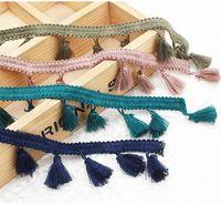 Этнические стиль окрашенные бахромы кружева Уверенности обрезки ленты ленты кисточка DIY одежда занавес декор дома текстильные ремесло
