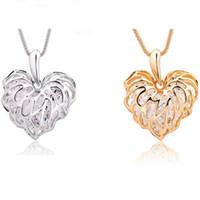 Strass innere Herz-Art-Höhle-Liebes-Blätter Halskette Lange Halskette funkelnder heiße Verkaufs-Zircon-Strickjacke-Kette neue Art und Weise Schmucksachen DHL