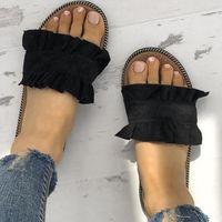 Zapatillas de mujer Zapatos planos de mujer Zapatillas de playa de verano Zapatillas con cordones Sandalias de mujer Zapatillas de moda para mujer