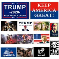 Donald Trump Flag 90 * 150CM Banner in poliestere Donald Trump sul serbatoio Bandiere USA President General Election Banner 13design