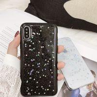 iphone 11 pro max XS Max XR X 6 7 8 Artı Moda Temizle Shinning Yıldız Arka Kapak İçin Bling Glitter madeni pul Yumuşak Telefon Kılıfı