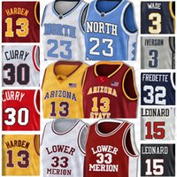 Luka Jersey Doncic Allen Iverson 3 Subvención 33 Colina NCAA Jason Williams 55 Olajuwon 34 Mitchell Damian Lillard 0 Larry Bird jerseys Colegio