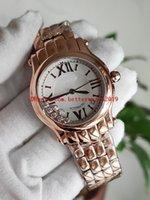 Top Nr Happy Sport 33mm 23mm 274808 Rose Gold Hadies Watch ETA2892 Автоматическая 28800VPH Pearl Diamond Mobile Dial Womens Quartz Часы