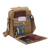 Mens Canvas Satchel Retro-Umhängetasche Messenger Bags Multifunktions-lässig im Freien unterwegs Pack Mode-Stil Umhängetasche ZZA469