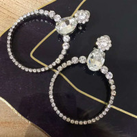 Unique Personality Crystal Hoop Earring Clip-on earring High Quality Eardrop Huggie free shipping with gift box