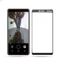 9 H Tam Kapak Temperli Cam Ekran Koruyucu Tutkal Patlama Nokia X71 2.2X5 X6 3.1 5.1 6.1 200 adet / grup