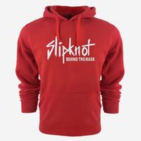 새로운 남자 Slipknot 디자이너 캐주얼 후드 티 셔츠 솔리드 컬러 인쇄 트렌드 양털 코튼 풀오버 코트 따뜻한 옷 공장 아울렛