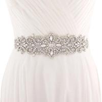 اليدوية الأبيض العاج حزام لفساتين الزفاف مطرز كريستال الزفاف شاح اكسسوارات الزفاف حجر الراين شاح الزفاف cpa1222