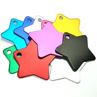 Wholesale 100Pcs Star Shape Engraving Aluminum Pet Id Tags C...