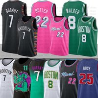 Kevin 7 Durant maillots Kyrie pour hommes 72 Black Biggie NCAA 8 Kemba Walker Jimmy 22 Butler Derrick Irving Rose D'Angelo Russell