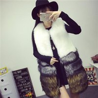 Vetement 2019 Winter Autumn Women's Long  Faux Fur Coat  Artificial Fur Vest Furry Vests Femme Jackets Fake Gilet  ZM49