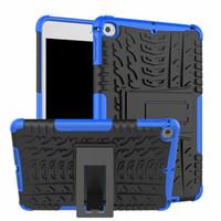 2 sur 1 Kickstand impact robuste robuste robuste TPU + PC Hybrid Cover Coque pour iPad Mini 5 2019 iPad mini 1 2 3 4 30 pcs / lot