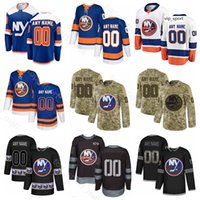New York Islanders Maglie personalizzate Hockey Mathew Barzal Josh Bailey Ryan Pulock Leo Komarov Nick Leddy Gradient Diamond Sequin