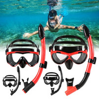 Adulte Enfants Professionnel Scuba Diving MaskTube Ensemble de masque de plongée en apnée avec tuba de plongée en apnée Lunettes de natation sous l'eau
