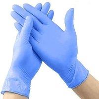 30個の家庭の掃除手袋Mサイズの青、鎮痛剤の食器洗いグローブテクスチャの指先フードサービスパウダーフリー