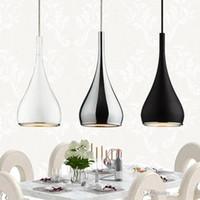 Fasion النمط الأمريكي الثريا قلادة مصباح المطبخ Dia16cm * h120cm المطبخ قلادة ضوء الألومنيوم / كروم 110-240 فولت ثلاثة ألوان الطعام ضوء