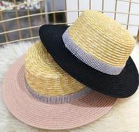 Chapeau Chapeu Feminino Femmes Chapeau De Plage Brillant Large Bord Correspond Couleur Dames Chapeau De Soleil De Paille 6pcs / lot