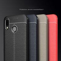 Funda de cuero de TPU suave a prueba de golpes de lujo para Huawei Honor 8X 8C 7X 7C 7A 8 9 10 Lite Y9 2019 Nova 3 3e P10 P20 Lite P30 Pro Funda