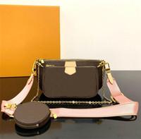 여성 브랜드 디자이너 지갑 즐겨 찾기 가방 진짜 가죽 포 셰트 어깨 가방 핸드백 클러치 이동식 체인 벨트 대량 m40718의 casua