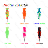 silicone Nectar Collector kit portable Concentrate smoke Pip...
