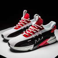 Summer Breathable Footwear Mens Trend Shoes Red Blue Black H...