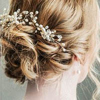 2018 New Bridal Wedding Pearl Beaded Hair Pins Crystal Hair ...
