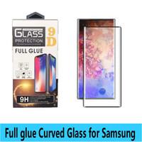 Full Glue vidro temperado Para nota 10 Caso Amigável 9D Curvo filme Protetor de Tela para nota 10 plus s10 s8 s9 plus