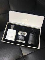 Üst kalite ! Creed Köln parfüm 30ml * 3 Creed Aventus Yeşil İrlandalı ve Gümüş Su mini set uzun ömürlü ve yüksek fragance ücretsiz gemi