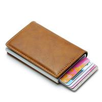 حامل DIENQI بطاقة RFID جلد رجل محافظ حقيبة المال ذكر خمر الأسود القصير محفظة صغيرة سليم محافظ مصغرة محافظ رقيقة