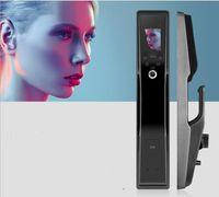 Rongshenda fx90 بصمة الوجه الاعتراف الباب قفل التلقائي المنزلية مكافحة سرقة كلمة المرور فرشاة + مربع التجزئة المتأنق