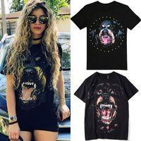 Mujer rottweiler perro camiseta damas 2020 ss calle camiseta nuevo imprimido shortsleeves algodón top girls buena calidad