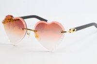 2021 NUEVO Blanco Unisex Gafas de sol Gafas de sol Venta de mármol 3524012 Lentes Lentes Sin rimo Transparente Sun Clear con Gradient Fra Rvhdb