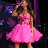 Vestidos de partido calientes de fiesta cortos rosados 2019 del Rhinestone del amor del regreso al hogar de los vestidos de graduación de tul Mini criada del vestido del honor