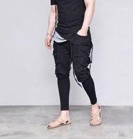 Hosen 2019 Sping FW New Verband-Schwarz-Kreuz-Hosen Herren Kleidung Lässige Designer Jogger Hiphop Skateboard
