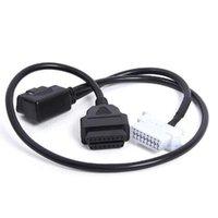 OBD OBD2 Câble OBDII 16 broches Extension mâle vers femelle voiture de diagnostic Y Extender Adaptateur Bluetooth coude avec ELM327